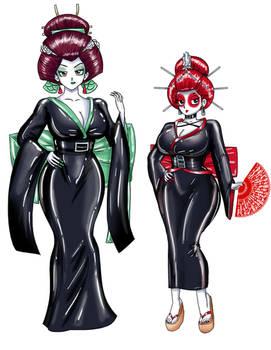 Geisha Nodoka And Maiko Ranma by SaturnXart