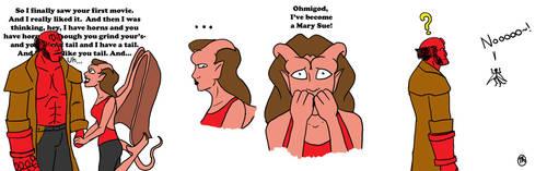 Hellboy Mary Sue by marggarg