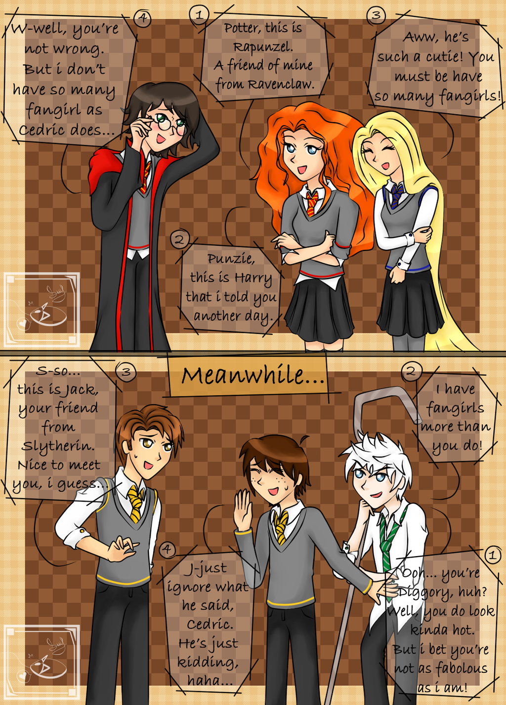 the big four in hogwarts fangirls by queenezha4 on