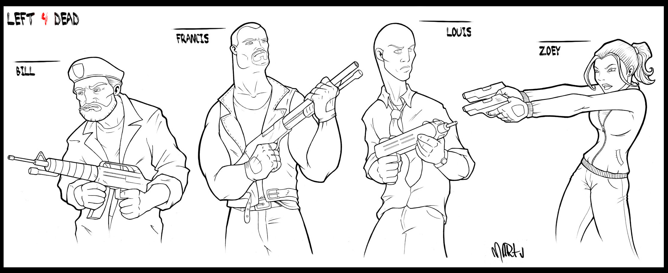 Left 4 Dead Coloring Pages Coloring Pages