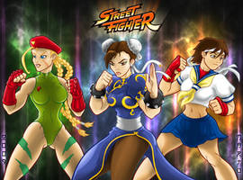 Street Fighter girls by mARTu-Mandy