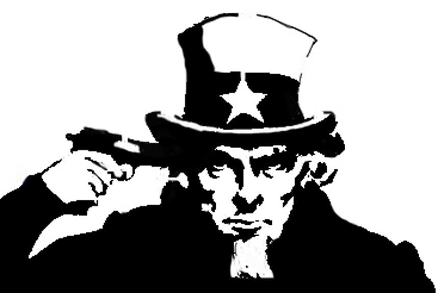 uncle sam spray paint stencil by elzincho on deviantart. Black Bedroom Furniture Sets. Home Design Ideas