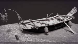 Highpoly Fishing Boat
