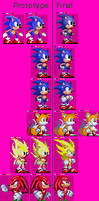 Sonic's Genesisology - Prototype and Final Sprite