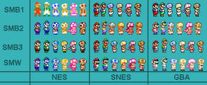 SMM2 Mario Luigi and Toads New Update v2 5x
