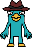 Perry the Platypus in Front View