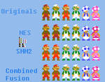 SMB1 Characters in NES and SMM2 Palettes