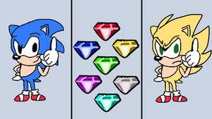 Sonic 1 Classic + 7 Chaos Emeralds = Super