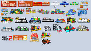 My 2021 Ultimate Super Mario Games with Logos