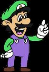 Luigi in the SMW Signature Pose