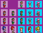 Super Mario 2 1998 Sega Genesis Bootleg Styled SMM