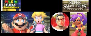 MGSR Mario and Peach meet SSBU Kazuya, MB Shantae