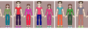 Six boys and girls with two bases, they are couple