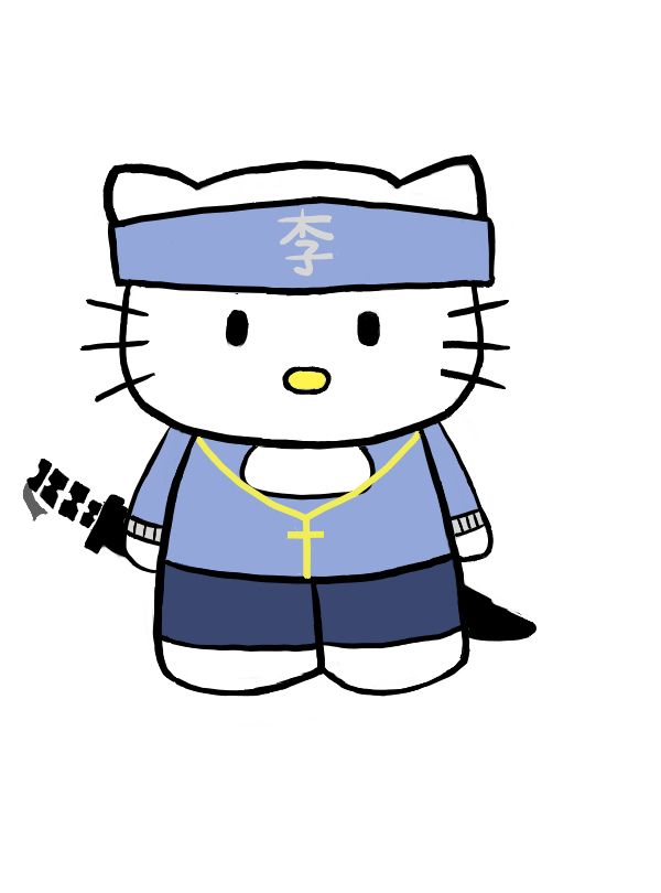 Gangster Hello Kitty Coloring Pages : Image gallery hello kitty drawings gangster