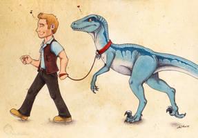 Take The Raptor For A Walk by Anatoliba