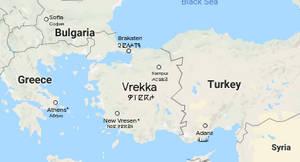 Map of Vrekka