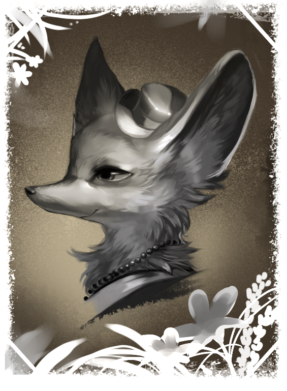 Portrait of a Fox by Starrelly