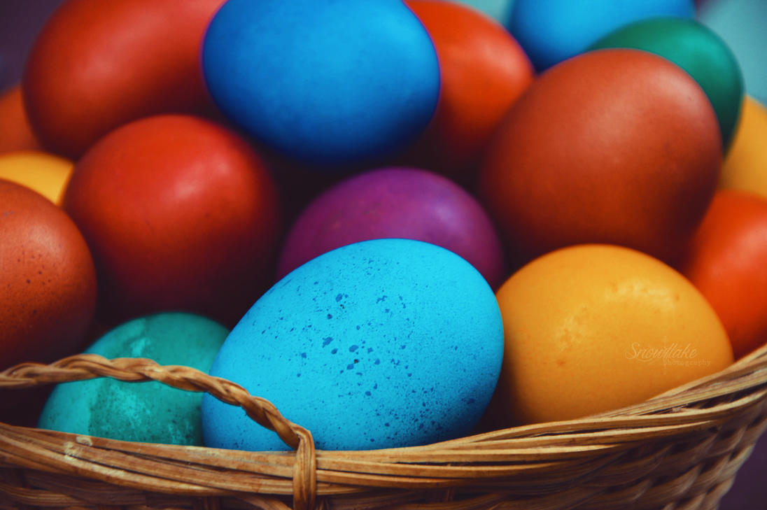 Colorful Easter eggs by Snowflake-Photo