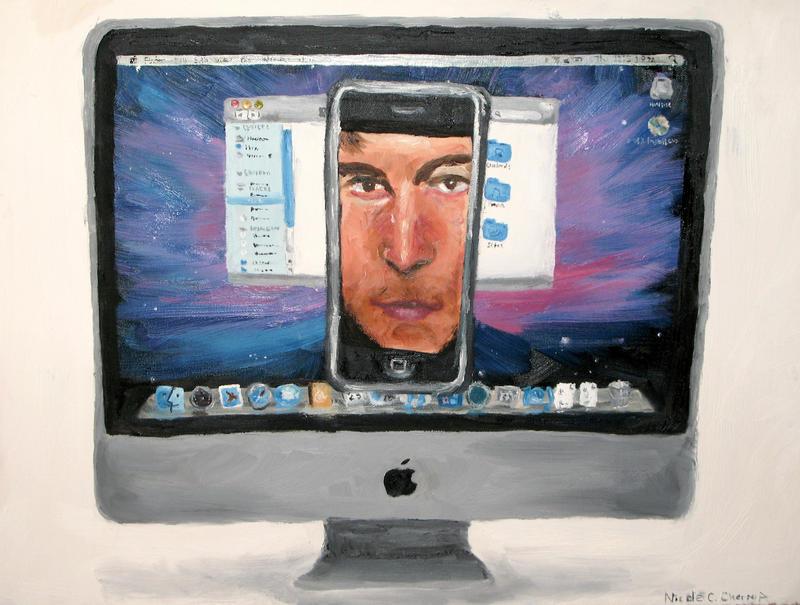 Steve in iPhone in Mac by Savay