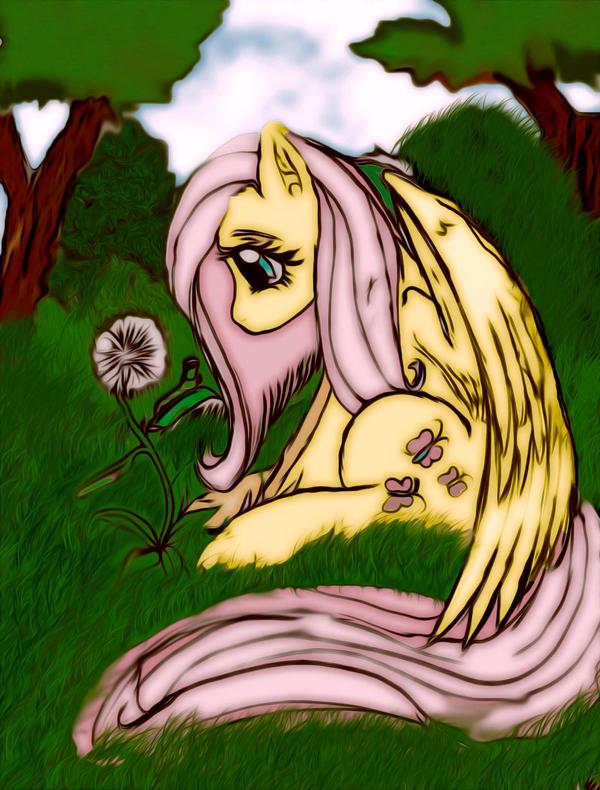 Cute Little Fluttershy by Natsumushi