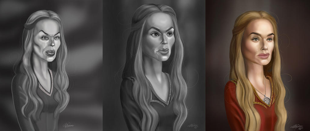 Cersei-sidebyside-small by LyleDoucetteArt