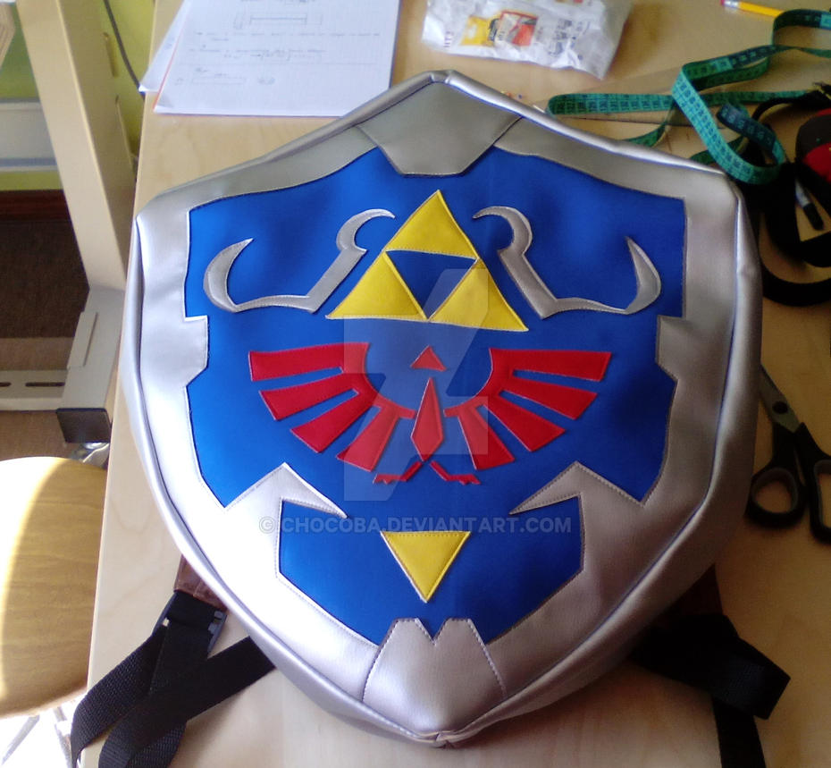 Hylian Shield Backpack by ChoCoBa