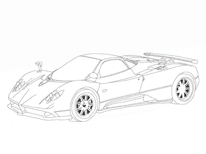 Expensive Car Coloring Pages : Pagani huayra coloring pages best free