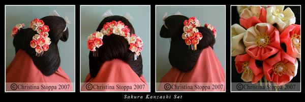 Sakura Kanzashi Set