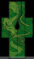 Dragon Uchikake by Kurokami-Kanzashi