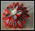 Fiery Fall Flower Pin
