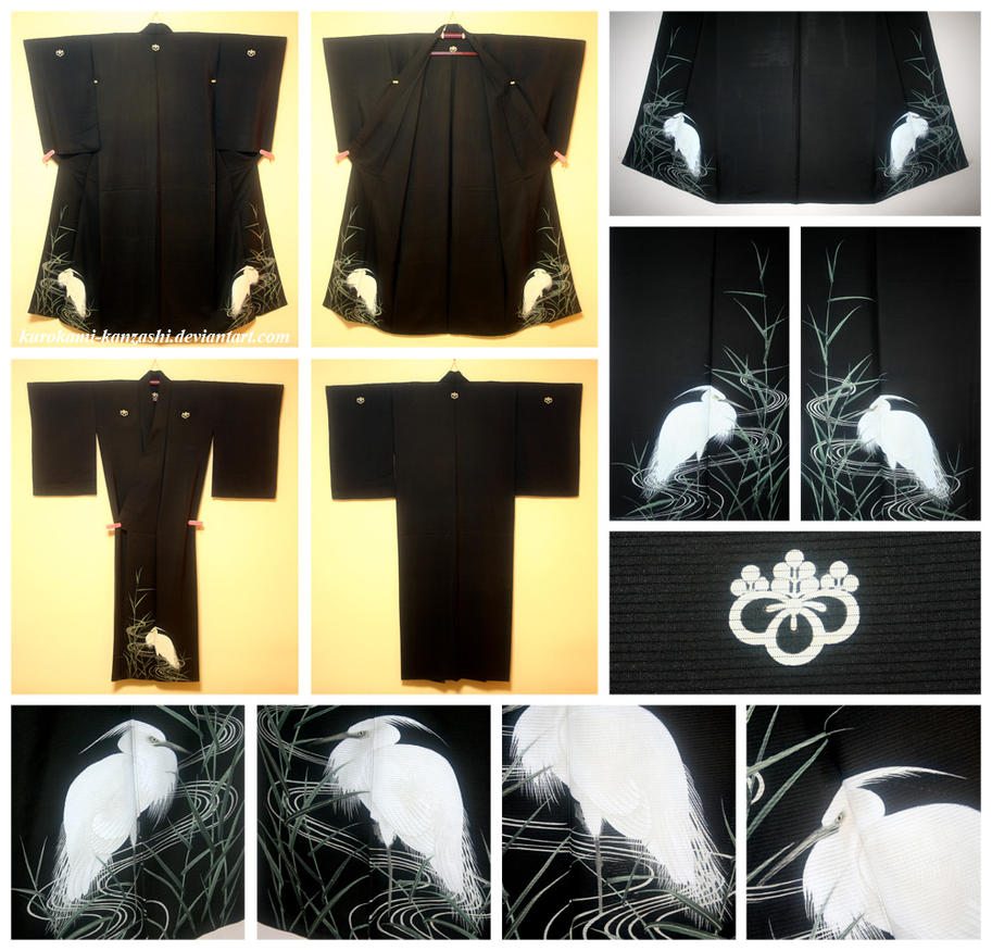 Daisagi - Great White Egret by Kurokami-Kanzashi
