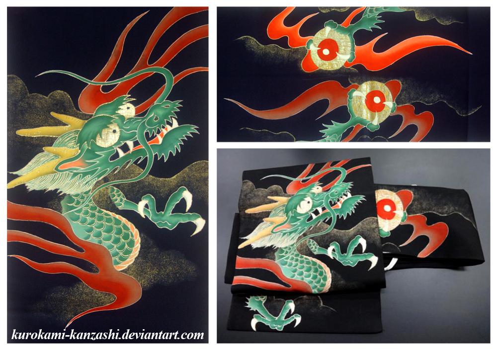 Dragon Tsuke Obi by Kurokami-Kanzashi