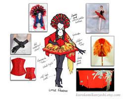 Little Phoenix - Kitsuke Concept Sketch by Kurokami-Kanzashi