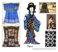 Angola Kitsuke - Wafrica Oiran by Kurokami-Kanzashi