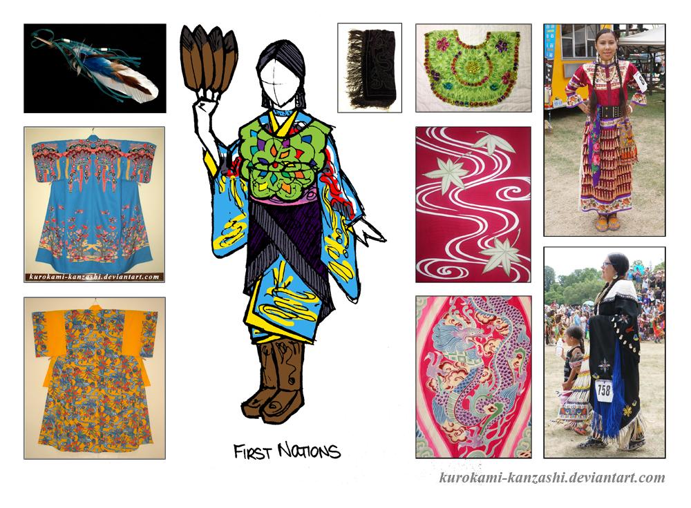 First Nations Kitsuke by Kurokami-Kanzashi