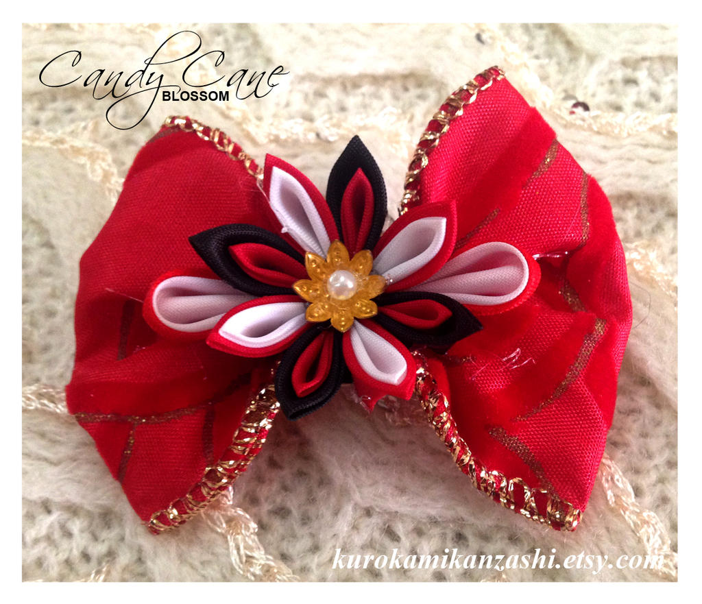 Candy Cane Blossom For Sale By Kurokami Kanzashi On