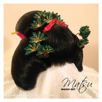 Matsu Maiko Kanzashi Set - SOLD