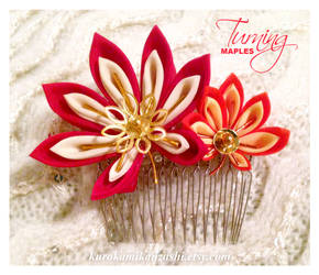 Turning Maples - SOLD by Kurokami-Kanzashi