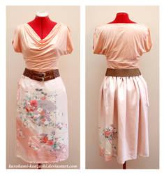 Elegant Fan Draw String Skirt