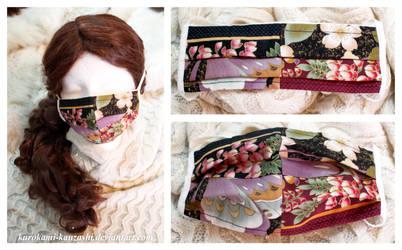 Kimono Patterned Patchwork Mask