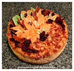 Rustic Goat Cheese and Fig Cheesecake