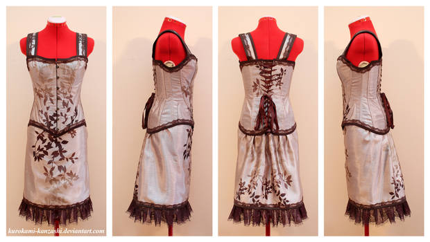 Autumn Forest Corset and Skirt Set
