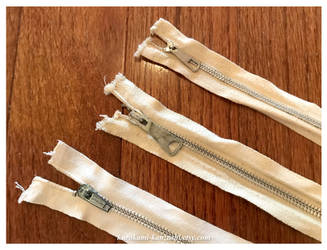 Three Canvas Metal Zippers - FOR SALE