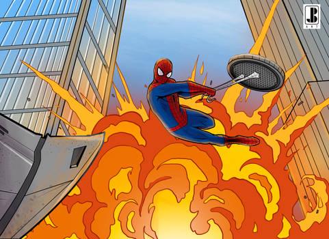 Spider-Man movie moment  Spidy vs rhino color