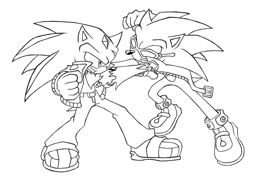 Scourge The Hedgehog Coloring Pages - Eskayalitim