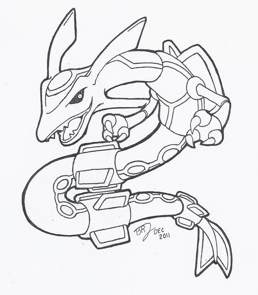 Pokemon Mega Rayquaza Coloring