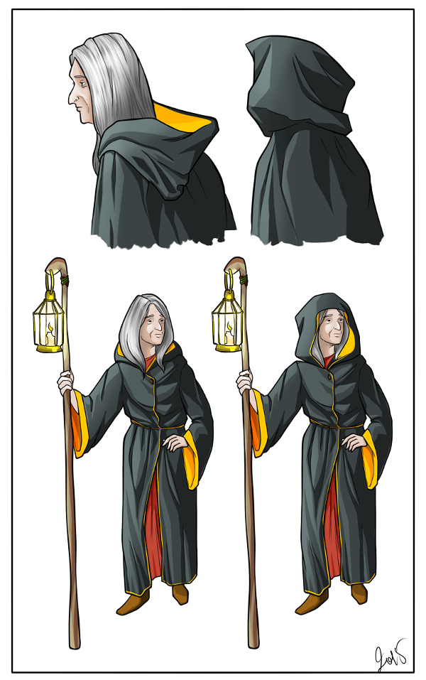 Maria - character concept by Mildegard