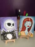 Jack Skellington and Sally maker sketch cards