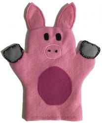 Felt Pig Hand Puppet by natalisea