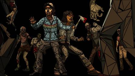 The Walking Dead Mosaic Wallpaper by klopki